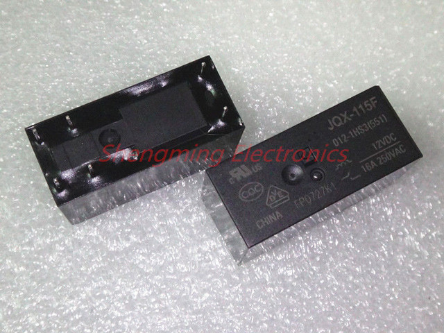 50PCS 6pins HF115F  JQX 115F 005 1HS3 JQX 115F 012 1HS3 JQC 115F 024 1HS3 5V 12V 24V 16A 250VAC Relay