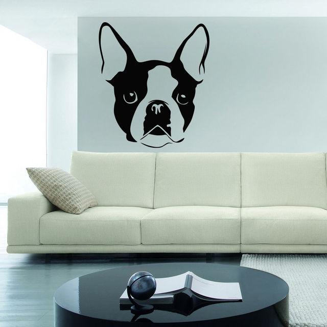 qt bulldog francs pared sticker decal vinilo mural de la decoracin dormitorio cocina arte perro cachorro