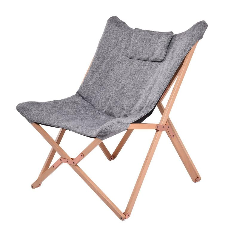 Folding Chair For Living Room Rocking Butterfly Solid Beech Wood Frame With Cushion Seat Indoor Furniture Leisure Lazy Lounge