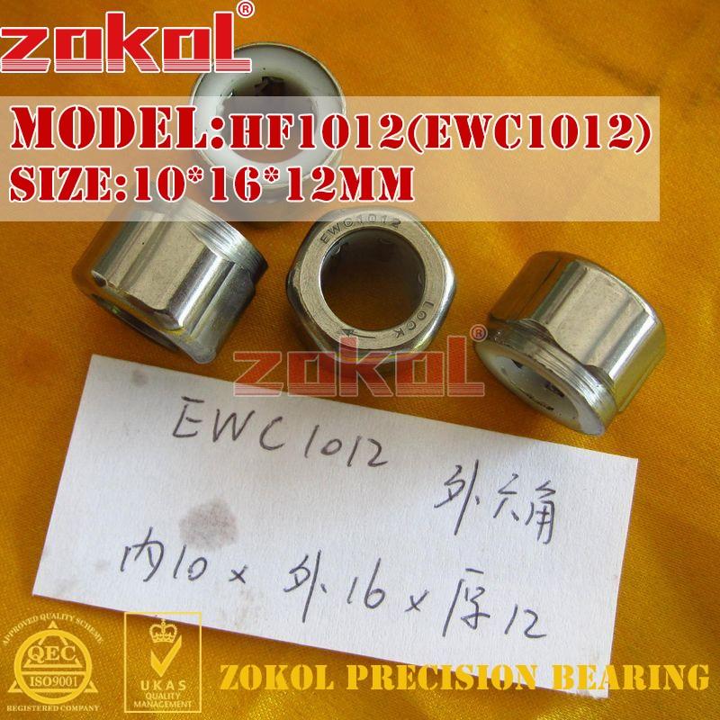 ZOKOL Bearing HF1010 HF1012 EWC1010 EWC1012 Hexagon One Way Needle Roller Bearing 10*16(17)*10mm 10*14*12mm 10*16*12mm