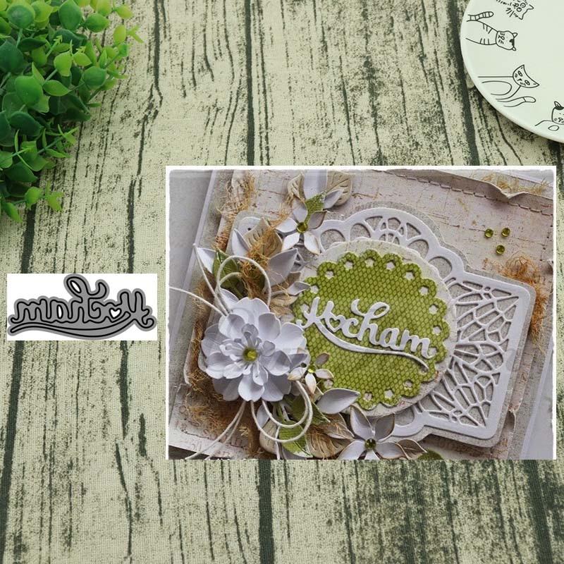 AddyCraft Polish Language I LOVE Metal Cutting Dies Stencils  Scrapbooking Album Paper Decorative Craft Embossing