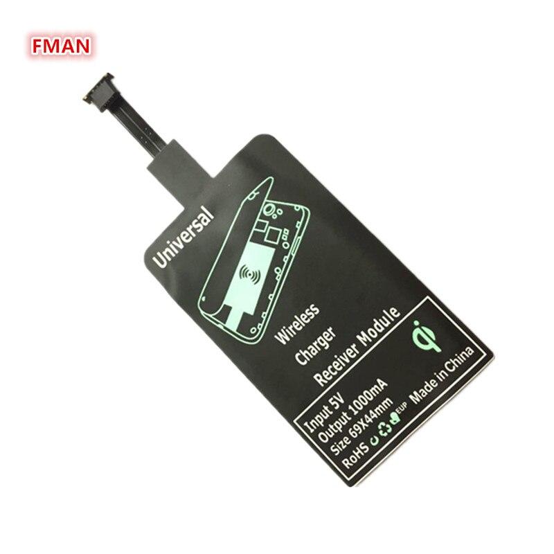 QI Беспроводной Зарядное устройство приемник адаптер Универсальный Android Получатель Pad Micro USB Беспроводной зарядки приемник для iphone Samsung