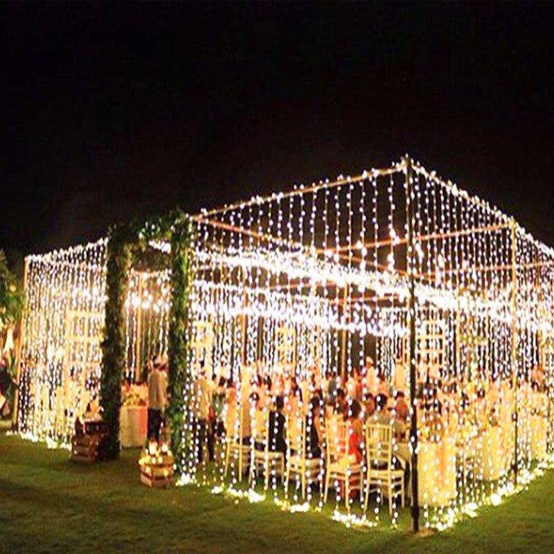 10M x 3M 1000 נורות LED וילון מחרוזת חג המולד גרלנד LED אורות קישוטי חתונה פיות מסיבת חג אורות גן דקור