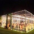 3 м 10 м x 3 м Светодиодные Шторы гирлянда огни Строка Рождественские украшения для свадьбы Гирлянда гирляндой вечерние праздничное освещение