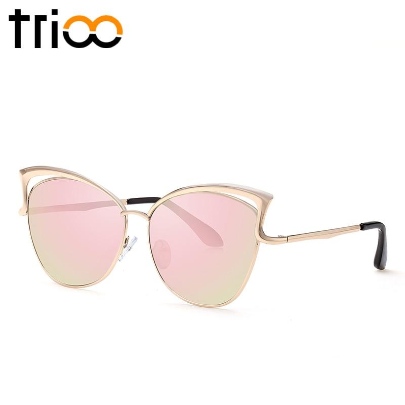 TRIOO Yüksək keyfiyyətli pişik gözlü qadın eynəyi gül - Geyim aksesuarları - Fotoqrafiya 3