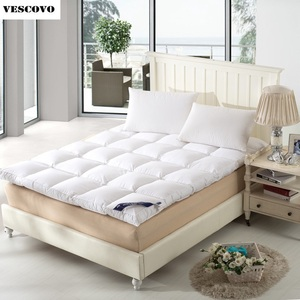 Image 1 - Foldable mats luxury goose Down Mattress Topper 100% cotton shell 100% goose down filling quilted
