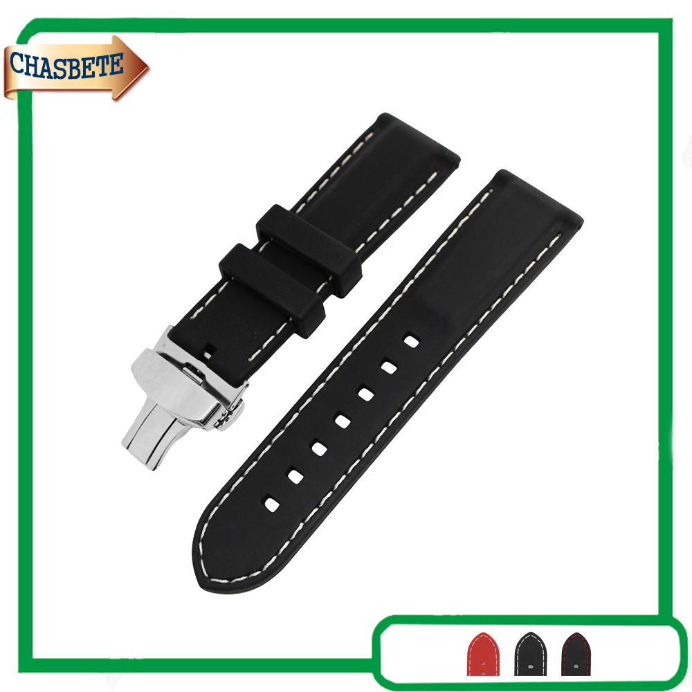Silicone Rubber Watch Band for Citizen 18mm 20mm 22mm 24mm Men Women Bracelet Resin Wrist Loop Strap Belt Black Red + Tool + Pin eache silicone watch band strap replacement watch band can fit for swatch 17mm 19mm men women
