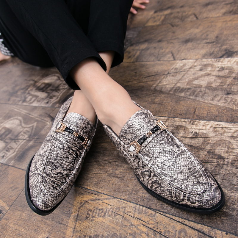 men's snake skin cool platform oxfords patent leather shoes male footwear wedding fashion famous designer brogue shoes for men (21)