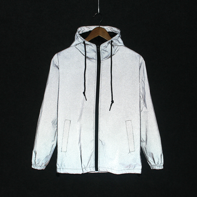 2019 new Funny Print Reflective Jacket Men Women Brand Hooded Mens hoodie Coats Casual Night Fluorescen Innrech Market.com