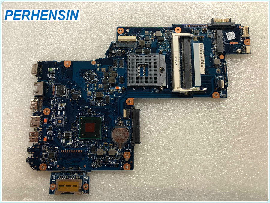 цена For Toshiba For Satellite C870 C875D L870 L875D laptop motherboard 17.3 inch H000041610 DDR3 HM70 with CPU100% WORK PERFECTLY