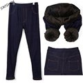 Leggings inverno calças de Ganga para Mulheres Jeggings Jeggings Pants Velo dentro Plus Size XL-XXL Térmica