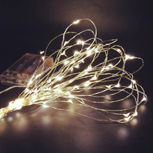 LED String Lights 10M 5M 2M Silver Wire Fairy Light Home and Special Occasion Decoration Powered by Battery USB LED Strip lamp