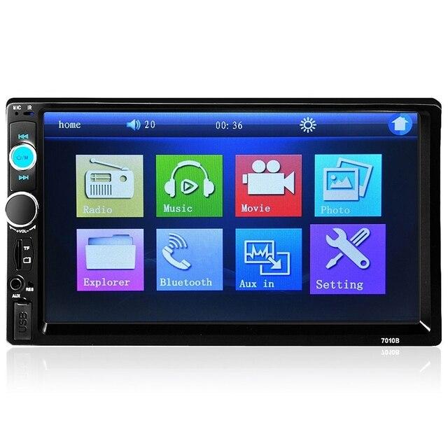 7 Дюймов TFT Автомобилей Аудио Стерео Сенсорный Экран MP5 Плеер с Камера заднего вида Bluetooth V2.0 Hands-free Вызова Поддержка AUX TF USB FM