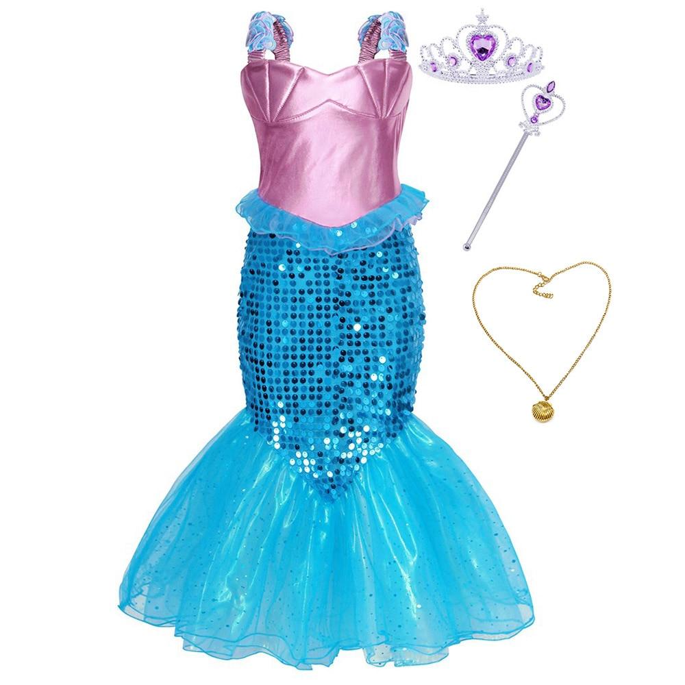 Accessories Girls Princess Ariel Little Mermaid Fancy Dress Kids Party Costume