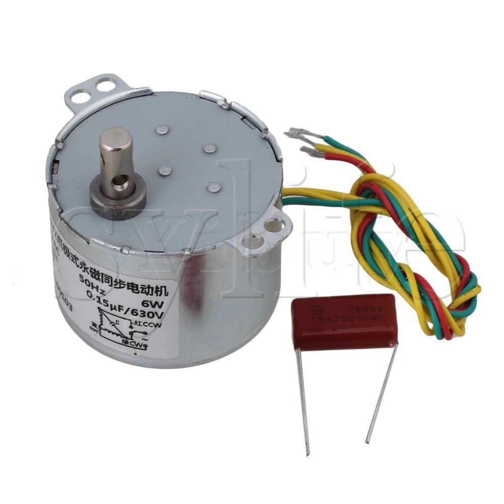 70ktyz 5rpm 20w 220v 50hz Ac Synchronous Gear Motor Cw Ccw For Wiring High Torque 5 Rpm Box Electric Reducer Replacement