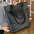 Luxury Women Leather Handbag Black Retro Vintage Bag Designer Handbags High Quality Famous Brand Tote Shoulder Ladies Hand Bag