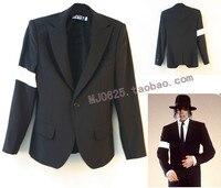 Nadir Kol Bandı ile MJ Michael Jackson Tehlikeli KÖTÜ Siyah Takım Elbise Ceket Imitasyon Hediye
