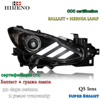 Hireno Headlamp for 2013 2015 Mazda 3 Mazda3 Axela Headlight Assembly LED DRL Angel Lens Double Beam HID Xenon 2pcs