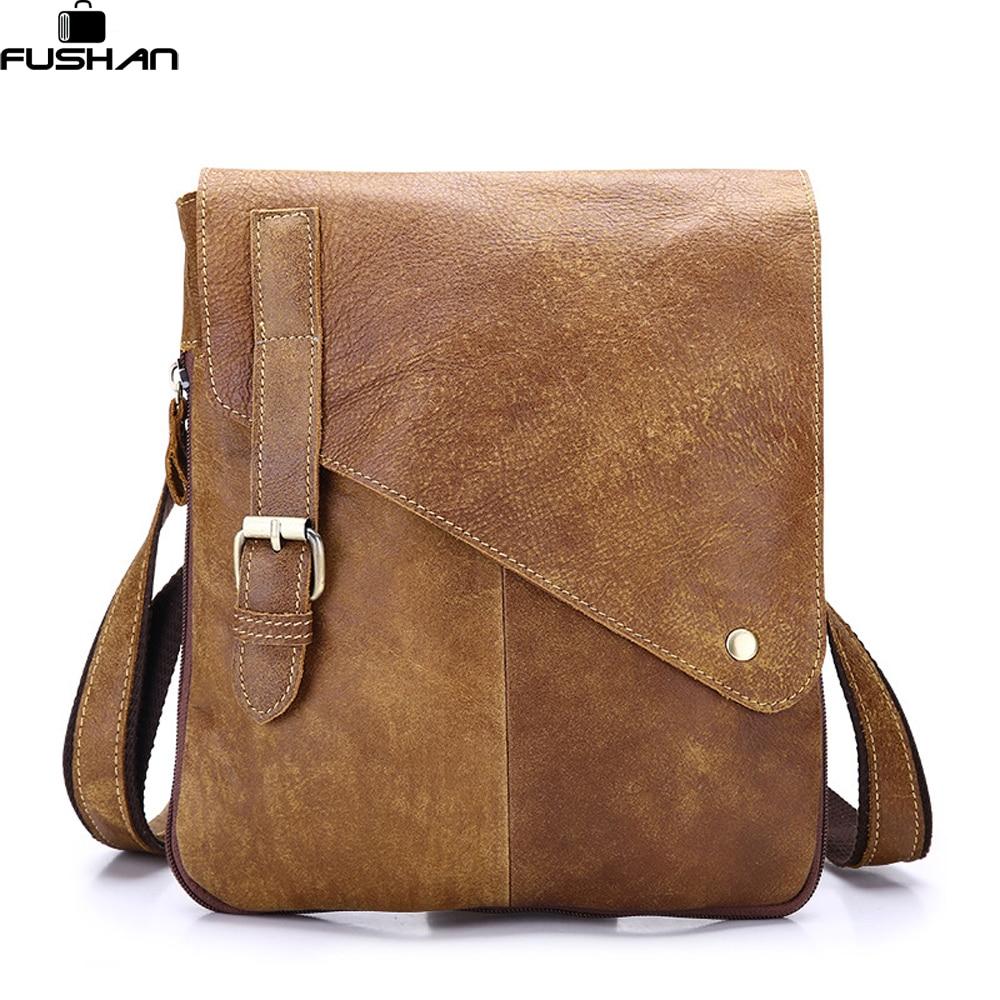 Business Genuine Leather Men messenger Bags Brand High Quality Fashion Men's Shoulder Bag Casual Vintage Briefcase Laptop Bag