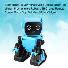 Christmas R801 Touch/remote/voice Control Sensing Intelligent Programming Robot USB Charge RC Toy Birthday Gift for Children(China)