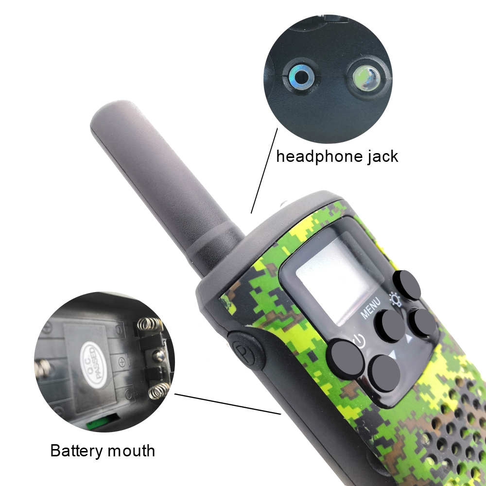 Portable Mini Kids Walkie Talkies Range up to 6km 8/20/22CH FRS/GMRS400-470MHZ Camo Two Way Radios Intercom Children Gifts
