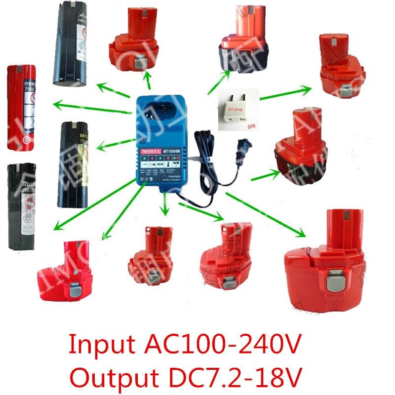Charger Replacement  For MAKITA Charger 7.2V 9.6V 12V 14.4V 18V NI-MH NI-CD Battery MAKITA DC1804 DC1414T DC1414F 9100A 9001 wholesale5pcs 18v 2 0ah replacement battery for 18 volt makita 1822 192826 5 192827 3 ni cd red
