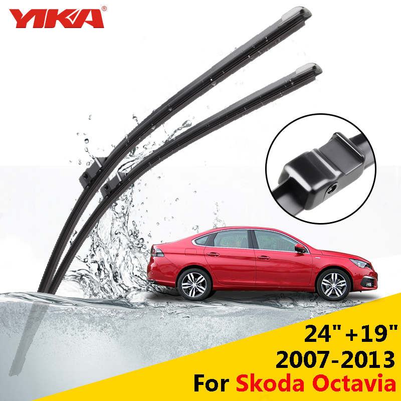 yika 24 19 for skoda octavia 2007 2013 janitors for cars glass rubber wipers windshield. Black Bedroom Furniture Sets. Home Design Ideas