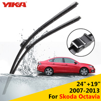 YIKA 24 19 For Skoda Octavia 2007 2013 Janitors For Cars Glass Rubber Windshield Wiper Blades