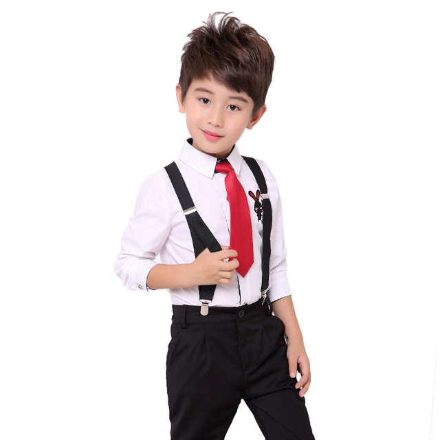 d0f897233076d Kids Birthday Dress School Uniform Shirt Overalls 2pcs Suit Gentleman  Performance Baby Boys Brand Children Costume Clothes B046-in Clothing Sets  from ...