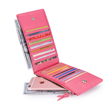 LOVEVOOK brand women wallet with zipper pocket artificial leather fema
