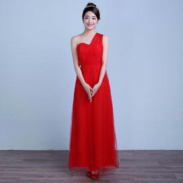 Rode Lange Jurk.Mode Elegant Chiffon Avondjurken Rode Lange Jurk Bruidsmeisje