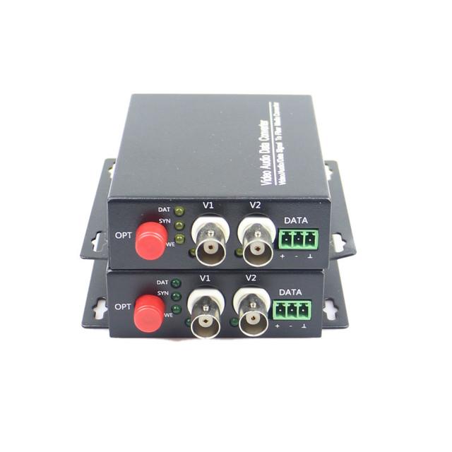 $ Number canales de Vídeo Digital Transceptor Óptico de Una Sola Fibra Monomodo Convertidor De Fibra Óptica FC 20 KM 2 UNIDS/LOTE