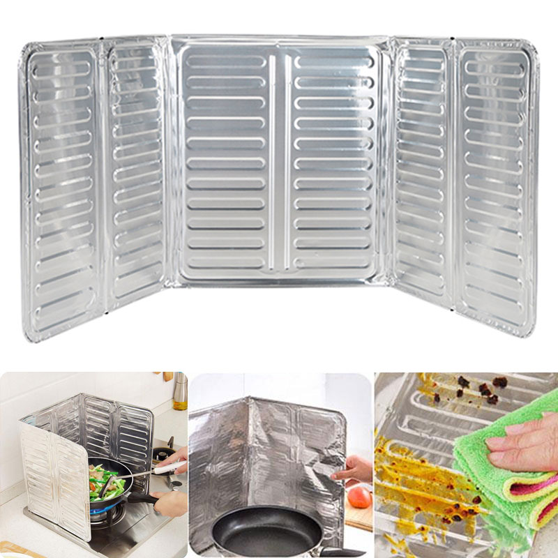 Removable cooking frying oil gas oil proof splash guard for Splash board kitchen