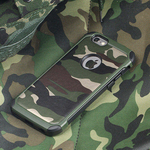e1c66ae00e Army Camo Camouflage Pattern back cover Hard Plastic Armor Anti-knock case  For iPhone XS Max XR X 6 6S 7 7 Plus 5 5S SE 4 4S