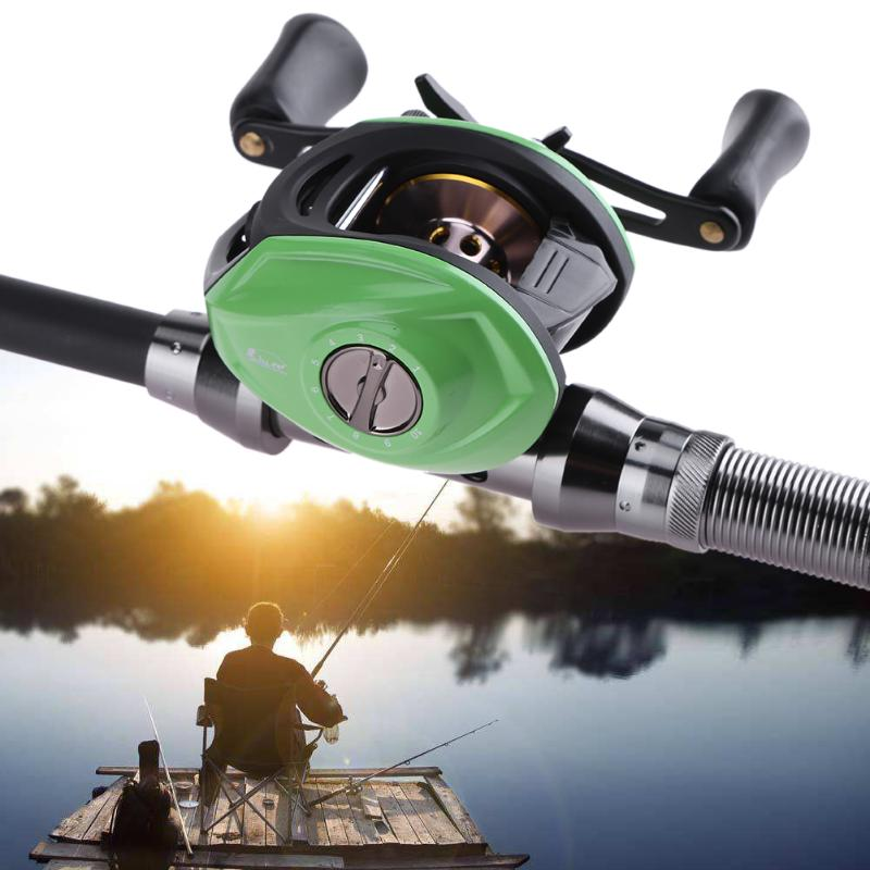 Right Hand 9+1 BB 6.4:1 Water Driven Magnetic Brake Low-Profile Sub-Wound Wheel Anti-Wound Line Fishing Reel