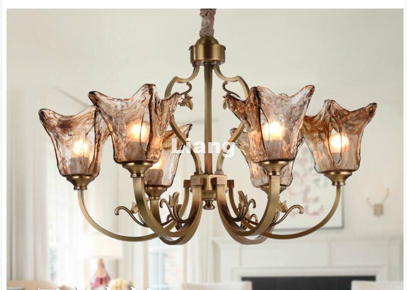 Free Shipping Brass Color Nordic Pendant lamp Bohemia Vintage Countryside Pendant Light LED E27 110V220V Decoration Pendant Lamp