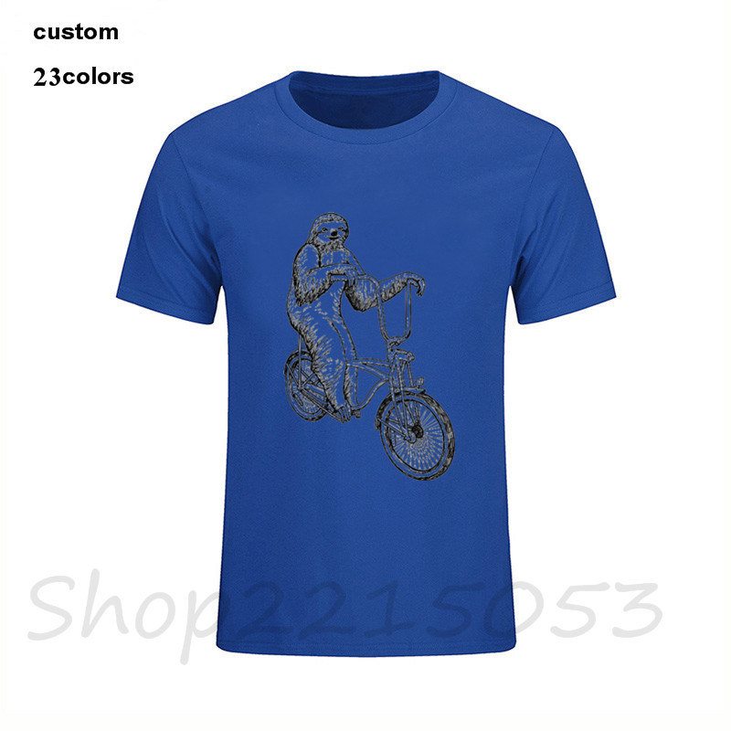 Teenagers Teen Boy Sloth On A Bicycle Printed Long Sleeve 100/% Cotton T-Shirts