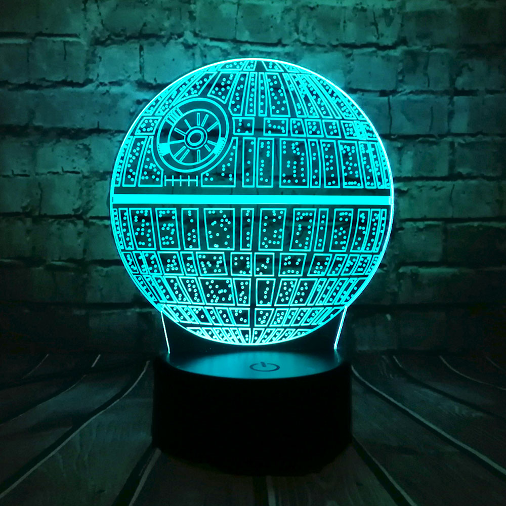 Hot Sale Film Star Wars 3D USB LED-lampa Astro Cartoon Death Star - Nattlampor - Foto 2