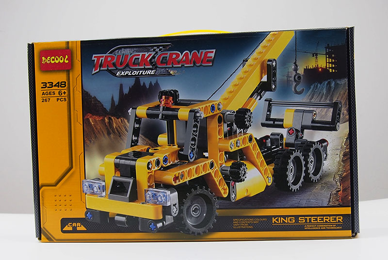 ФОТО 267Pcs City Crane Truck Cranes Compatible With Legoes Technic Plastic  Model Building Block Sets DIY Toys Gift