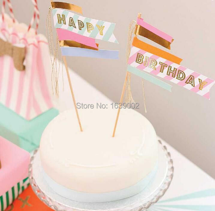 1sets Free Shipping Happy Birthday Cake Toppers Birthday Cake