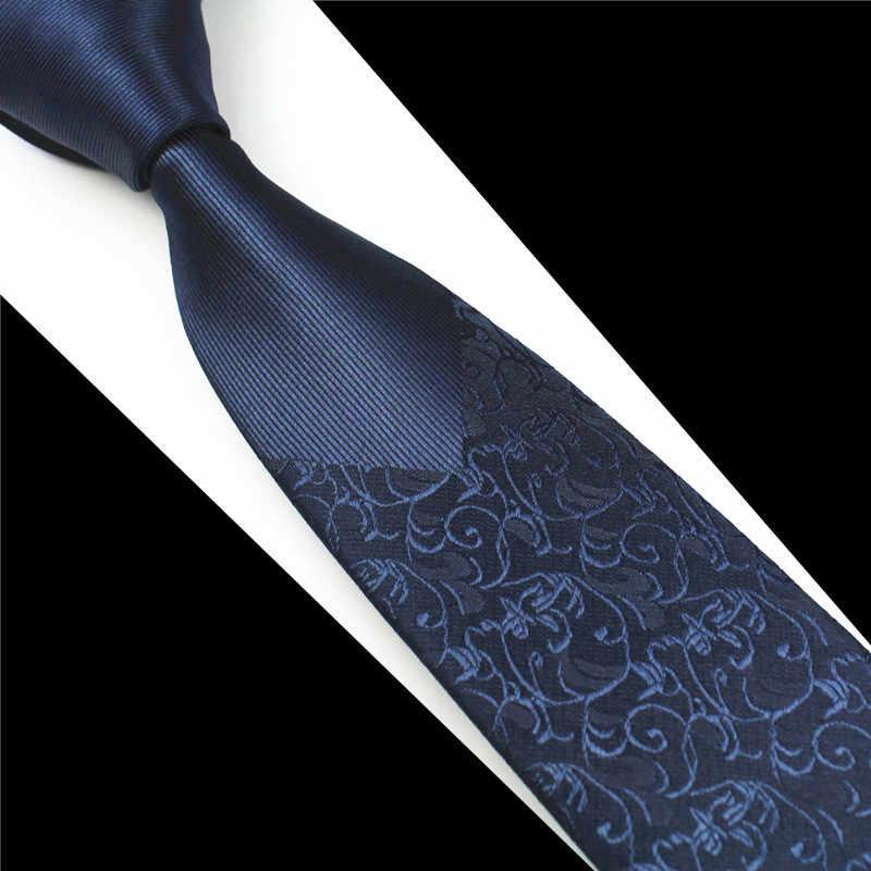 GUSLESON новые узкие мужские галстуки роскошные мужские галстуки с цветочным узором в горошек Hombre 6 см Gravata Тонкий Галстук Классический Бизнес Повседневный галстук для мужчин