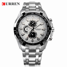 2017 new curren watches for men classic brand clock men wristwatches waterproof army military sport male watches(China)