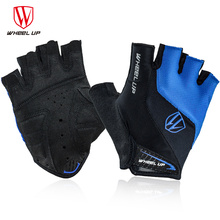 WHEEL UP Summer Half Finger Cycling Gloves Men Womens Sports Mittens Short Breathable MTB Mountain Bicycle Bike