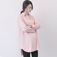 Maternity Clothings Pregnant Women White Pink Blouses Tops Clothes for Pregnant Women Pregnancy Wear Loose Tops H130