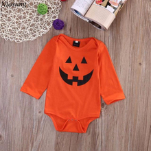 Niosung Infant Kid Baby Girls Boy Halloween Devil Romper Coverall Teddy Leotard Long Sleeve Jumpsuit Halloween Party Clothes