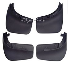 Good Quality 4PCS Black Soft Plastic Fenders Mudguards For Volkswagen Touareg 2011-2014