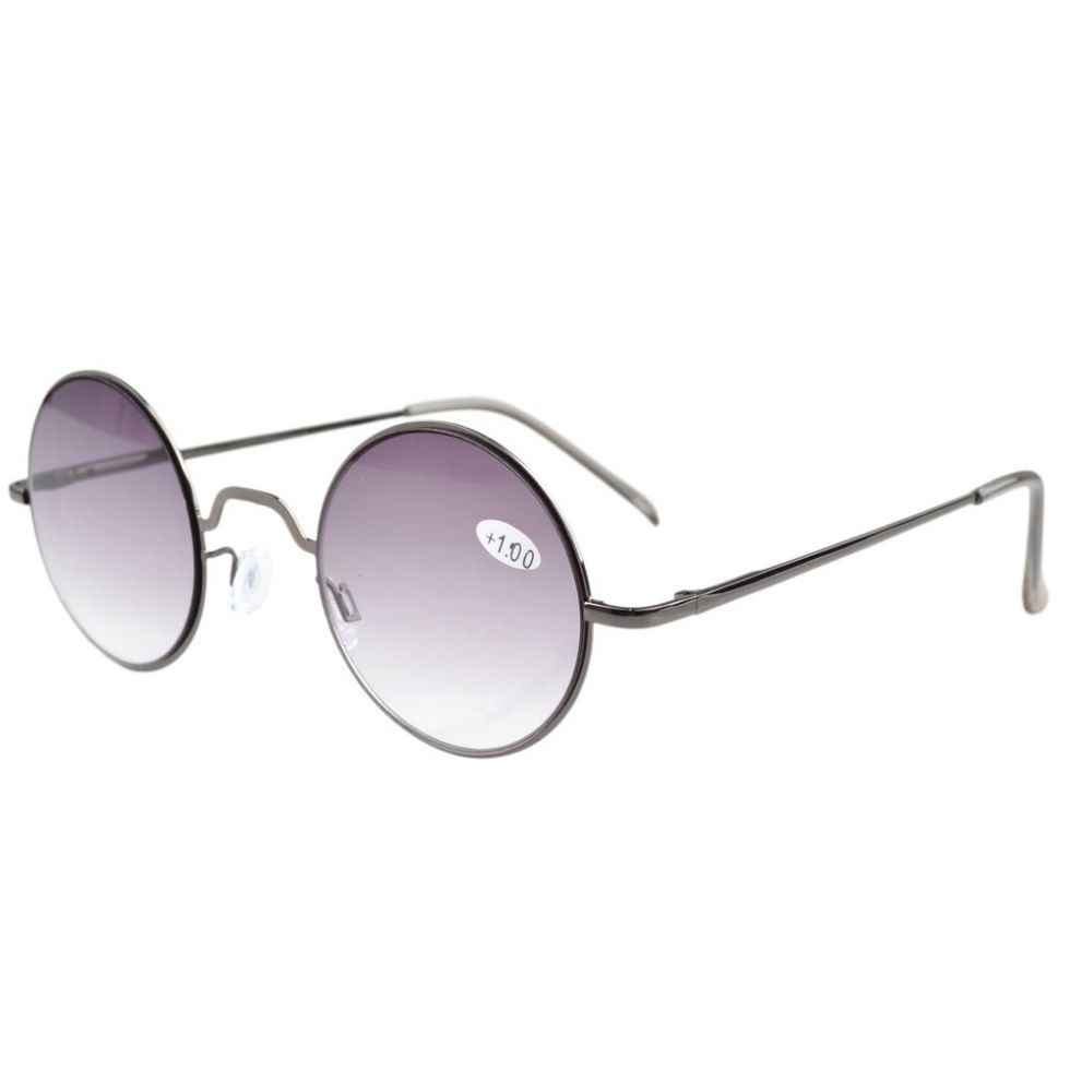 R1503 Eyekepper Tinted Lens Spring Hinges Retro Round Reading Glasses Sun Readers +0.5/0.75/1.0/1.25/1.5/1.75/2.0/2.25/2.5/3.0