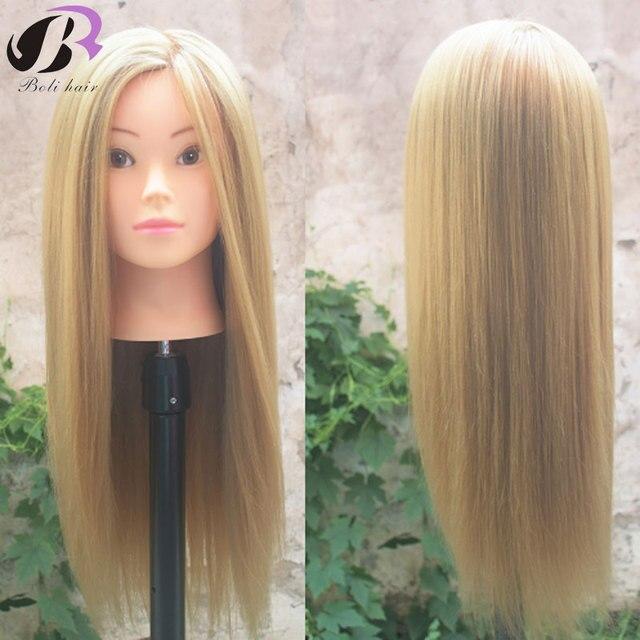 """Boli saç 26 """"Sentetik Saç Uygulama Kesme Saç Kuaförlük Eğitim Manken Kafa eğitim kafa saç Kadın Makyaj"""