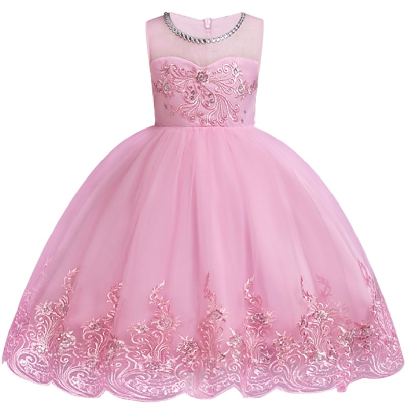 Baby Embroidery Tulle Tutu Princess   Girls     Dresses   Formal   Flower     Girl     Dress   for Wedding Party   Dresses   Elegent Christmas Clothing