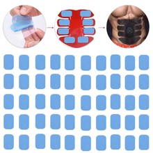 50 Pcs Gel Pads for EMS Abs Fat Burner Abdominal ABS Stimulator Trainer Muscle Hip Trainer Massage Slimming Waist Loser Belt 31